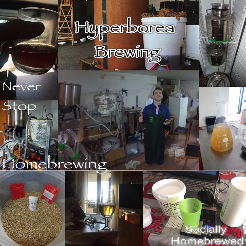 collage di immagini del birrificio